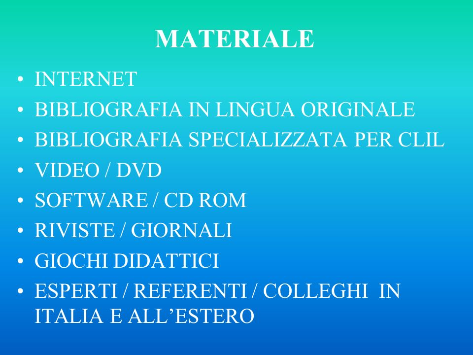 MATERIALE INTERNET BIBLIOGRAFIA IN LINGUA ORIGINALE