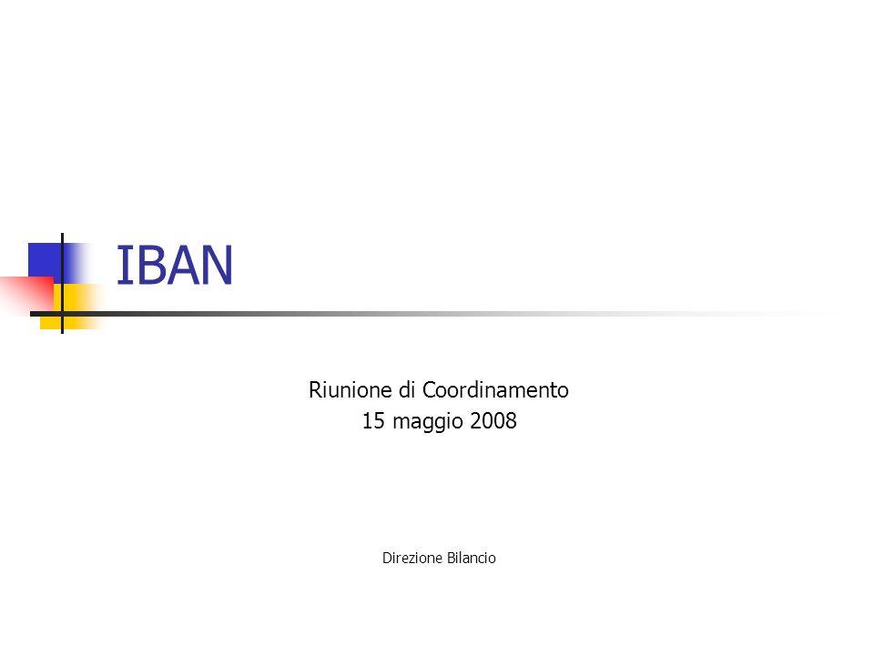 Riunione di Coordinamento 15 maggio 2008 Direzione Bilancio