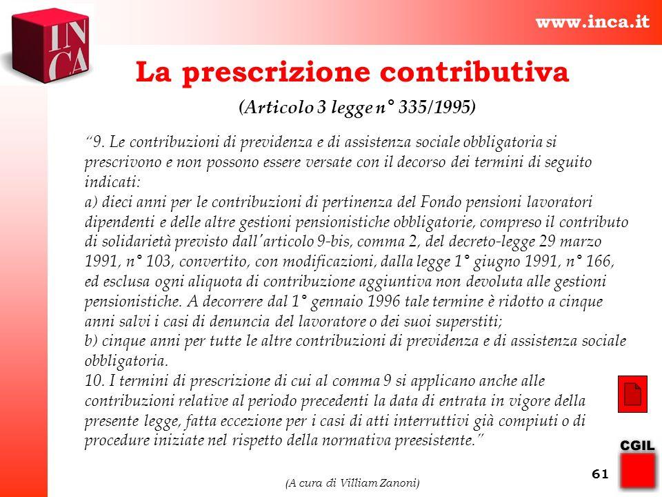 La prescrizione contributiva