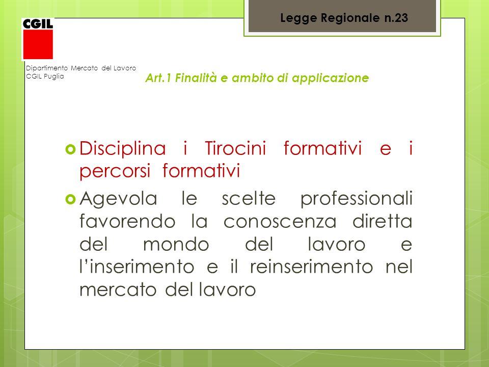 Art.1 Finalità e ambito di applicazione