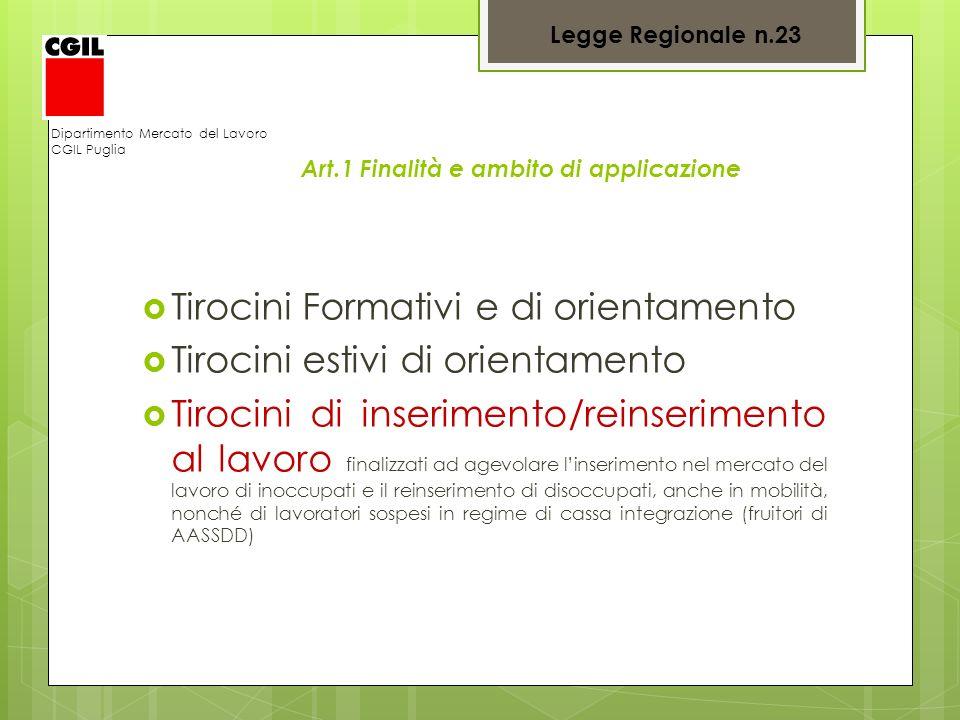 Tirocini Formativi e di orientamento Tirocini estivi di orientamento