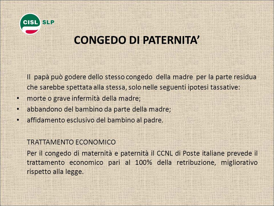 CONGEDO DI PATERNITA'