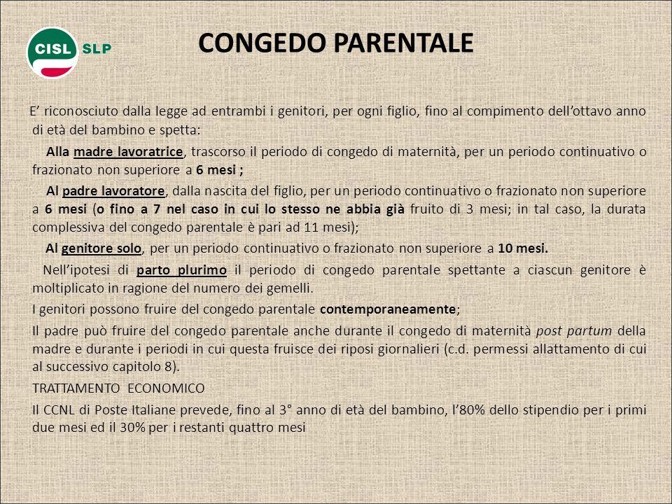 CONGEDO PARENTALE