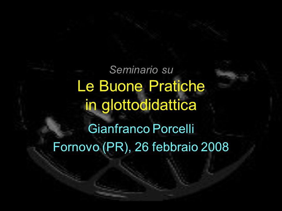 Seminario su Le Buone Pratiche in glottodidattica