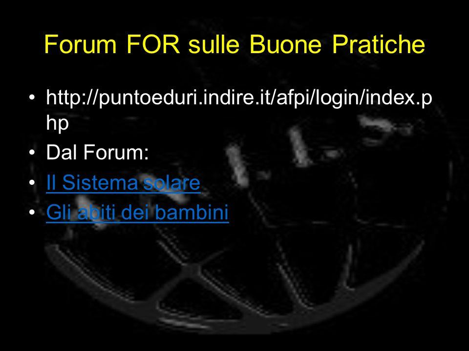 Forum FOR sulle Buone Pratiche