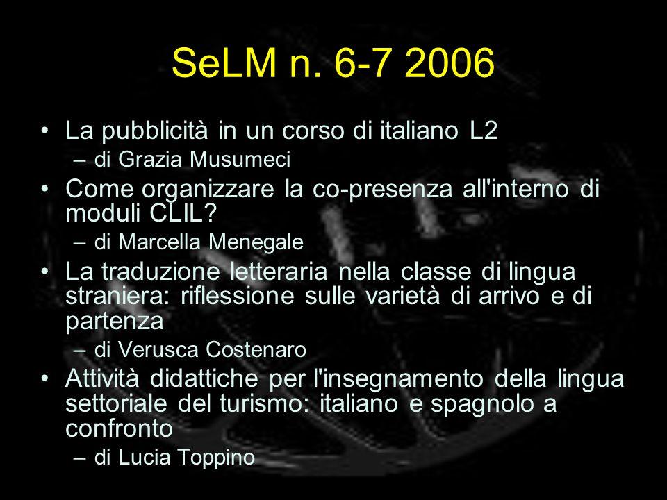 SeLM n. 6-7 2006 La pubblicità in un corso di italiano L2