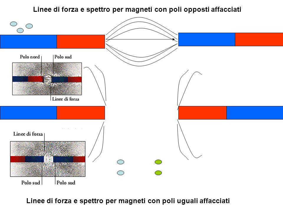 Linee di forza e spettro per magneti con poli opposti affacciati