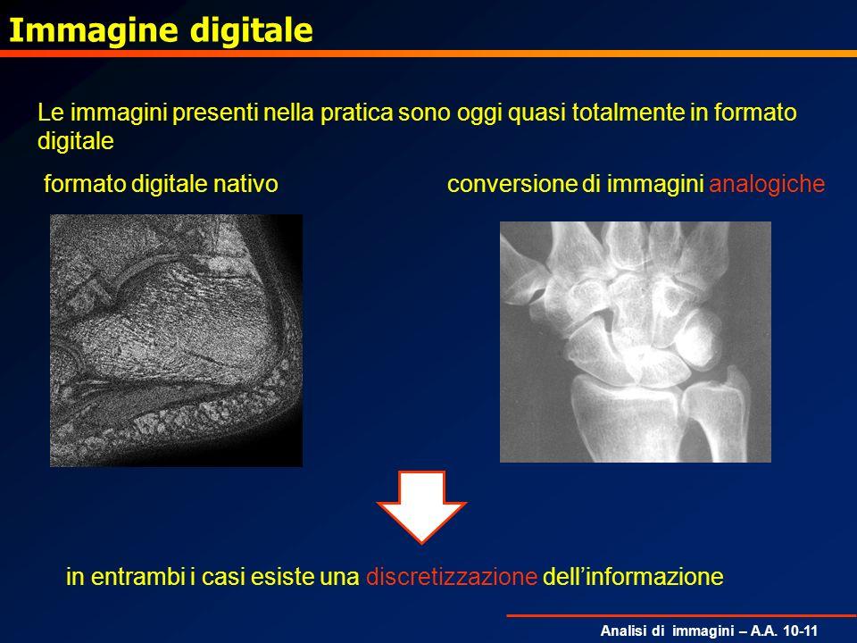 Immagine digitaleLe immagini presenti nella pratica sono oggi quasi totalmente in formato digitale.