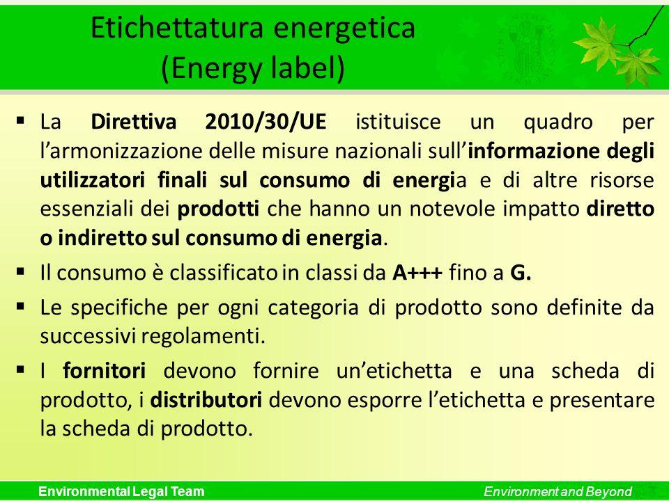 Etichettatura energetica (Energy label)