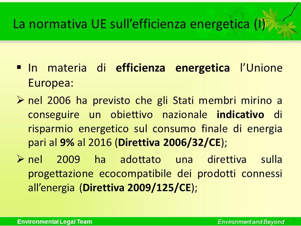 La normativa UE sull'efficienza energetica (I)