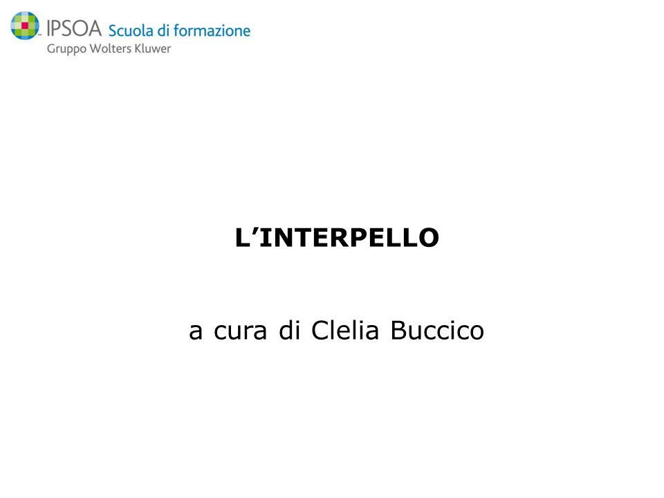 a cura di Clelia Buccico