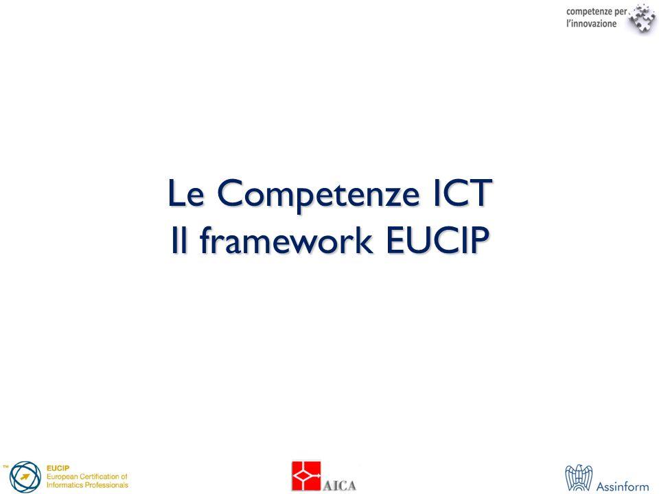 Le Competenze ICT Il framework EUCIP