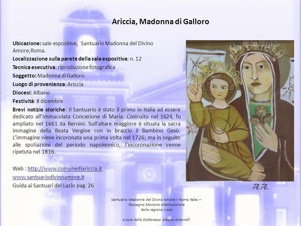 Ariccia, Madonna di Galloro