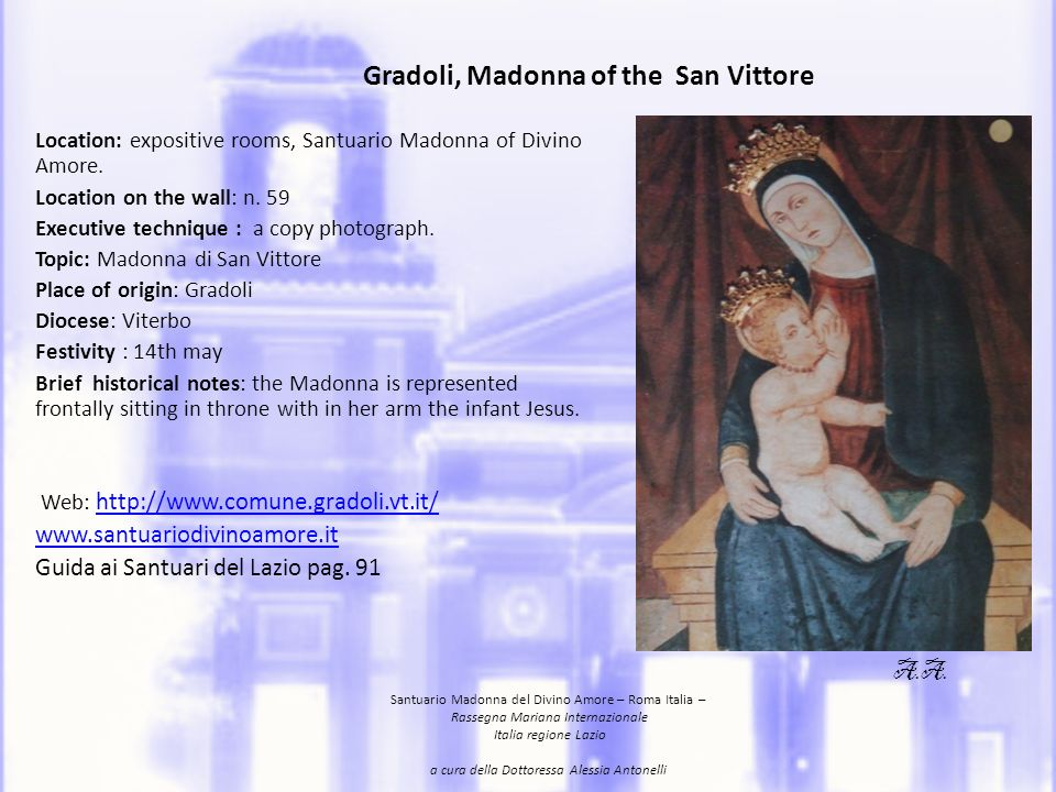Gradoli, Madonna of the San Vittore