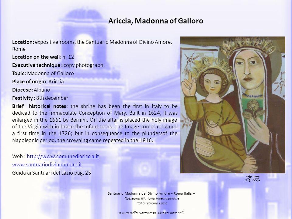 Ariccia, Madonna of Galloro