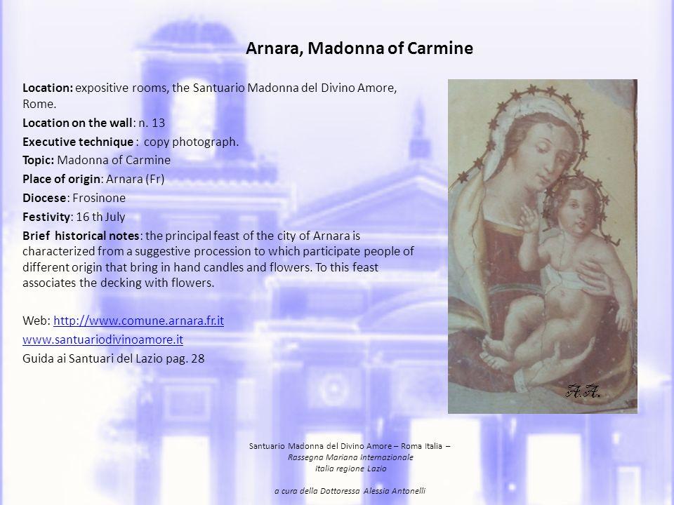 Arnara, Madonna of Carmine