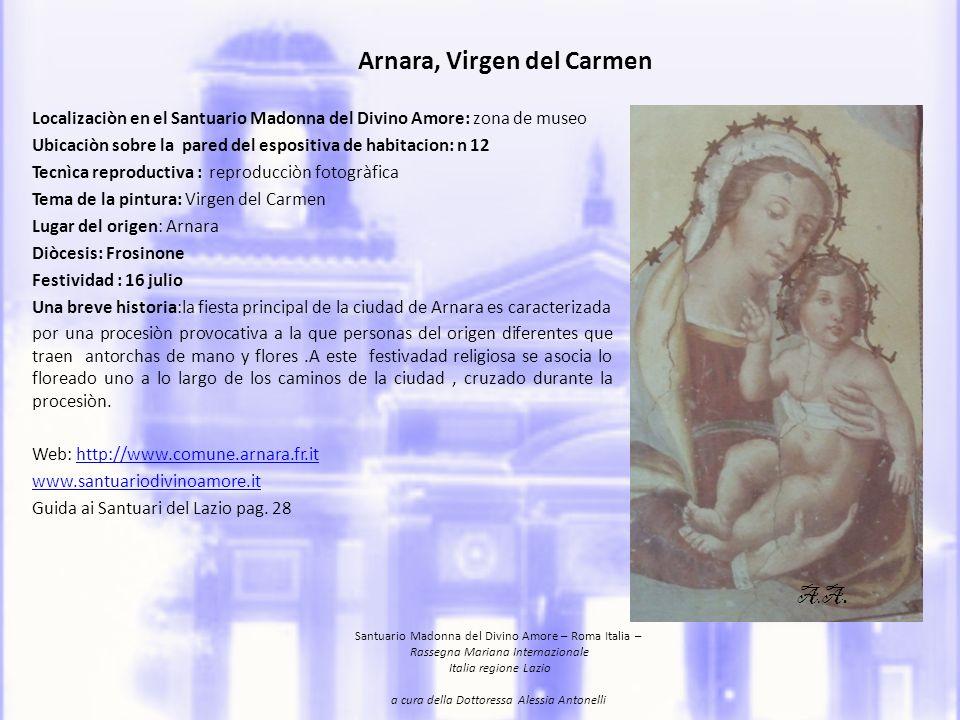 Arnara, Virgen del Carmen