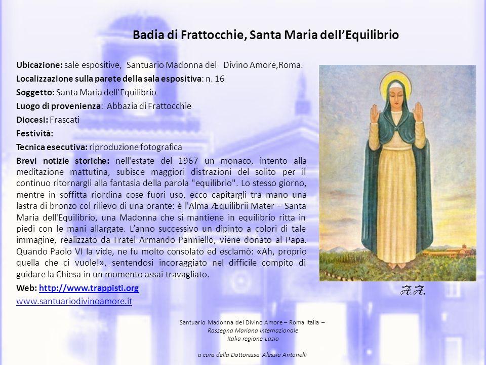 Badia di Frattocchie, Santa Maria dell'Equilibrio