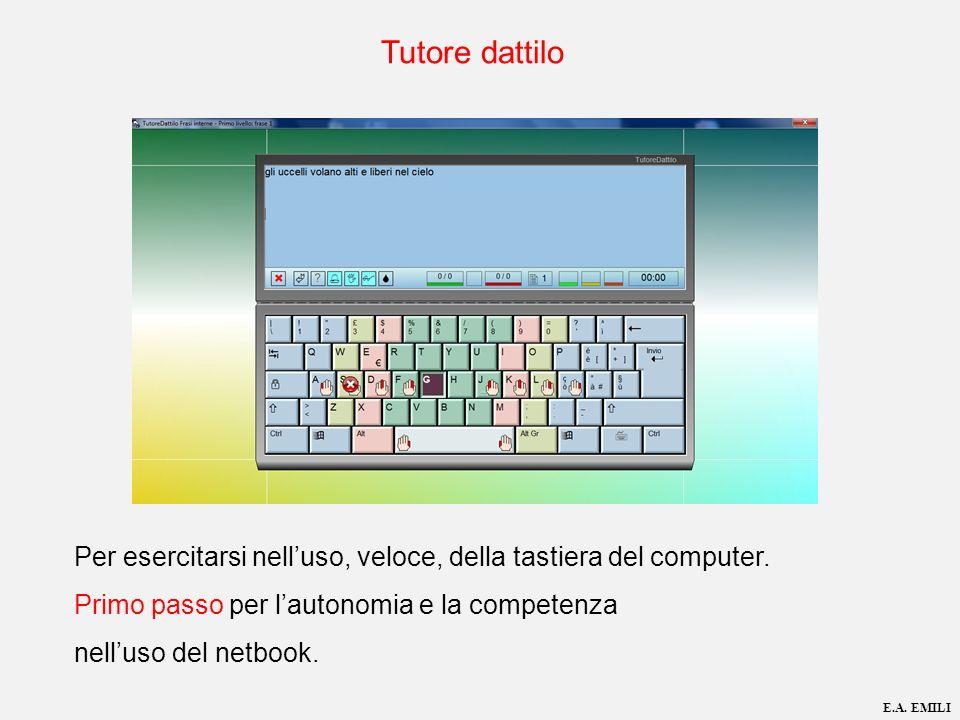 Tutore dattilo Per esercitarsi nell'uso, veloce, della tastiera del computer. Primo passo per l'autonomia e la competenza nell'uso del netbook.
