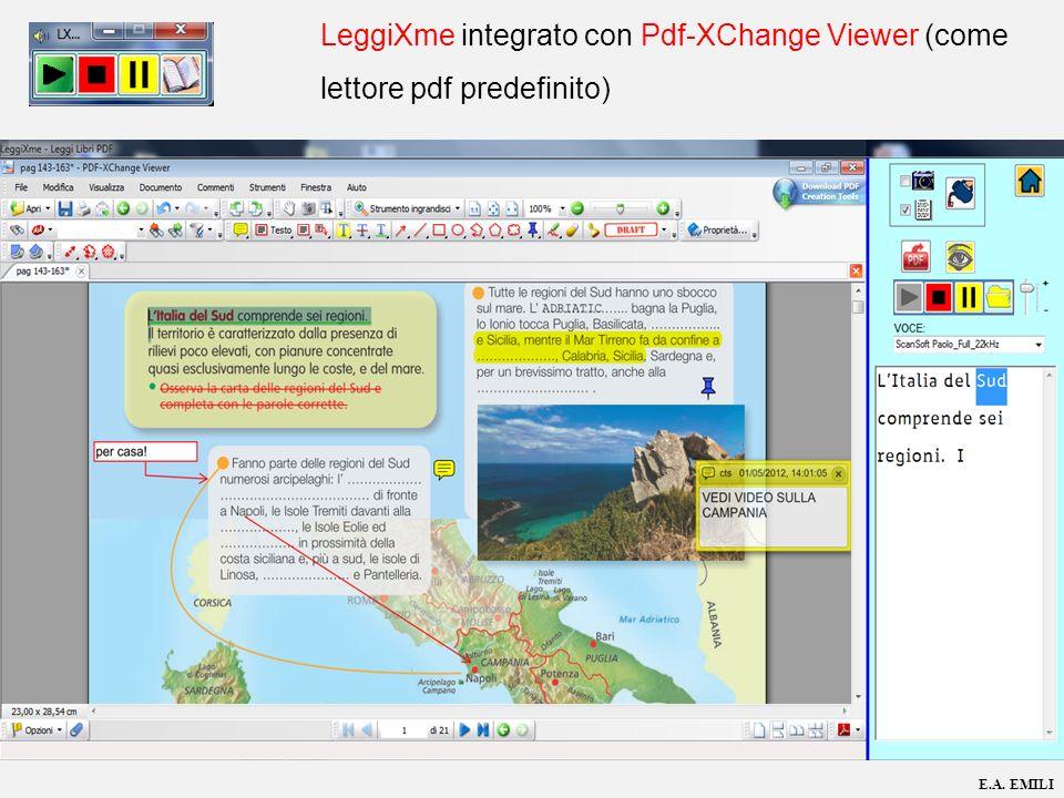 LeggiXme integrato con Pdf-XChange Viewer (come lettore pdf predefinito)