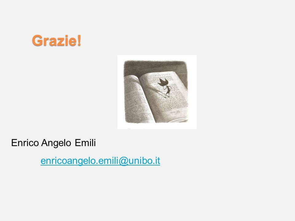 Grazie! Enrico Angelo Emili enricoangelo.emili@unibo.it