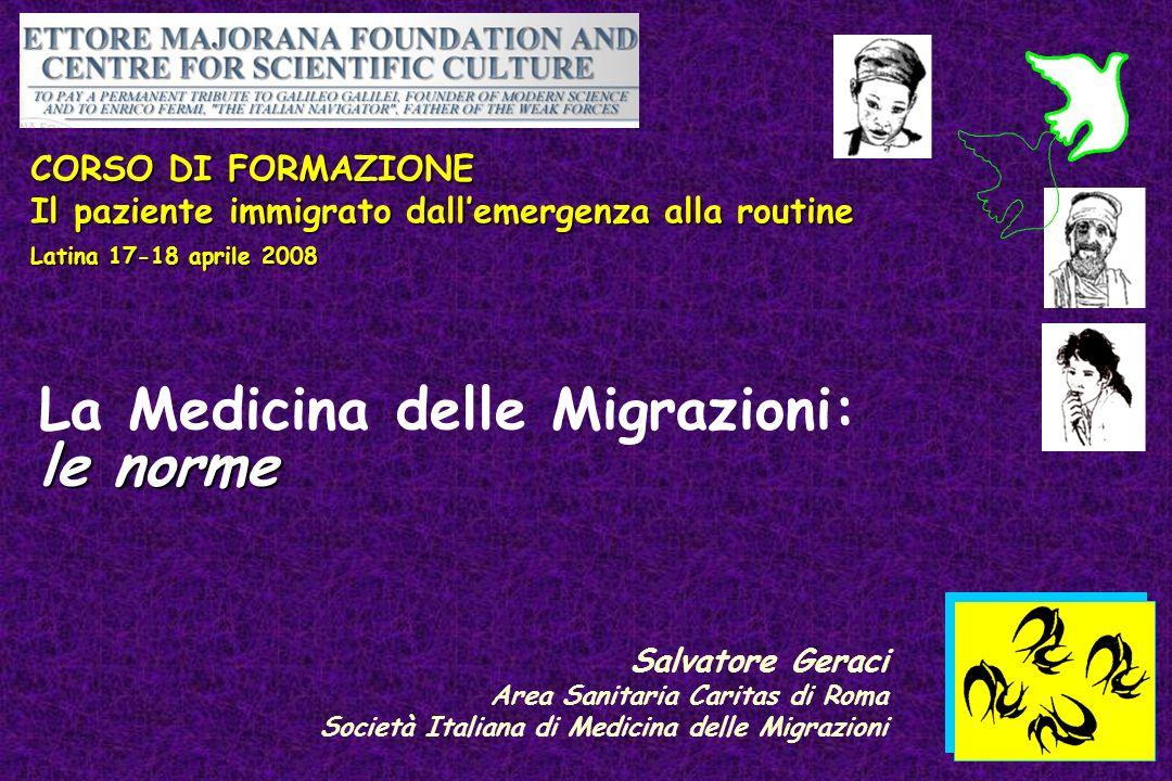 La Medicina delle Migrazioni: le norme