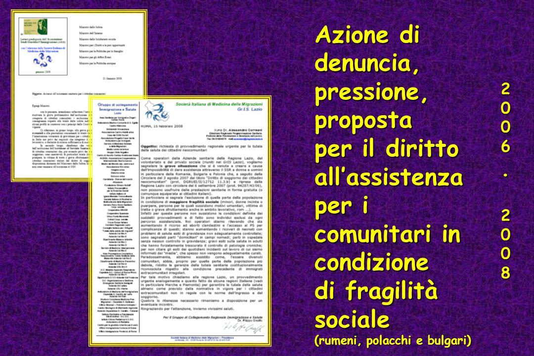 per il diritto all'assistenza per i comunitari in condizione