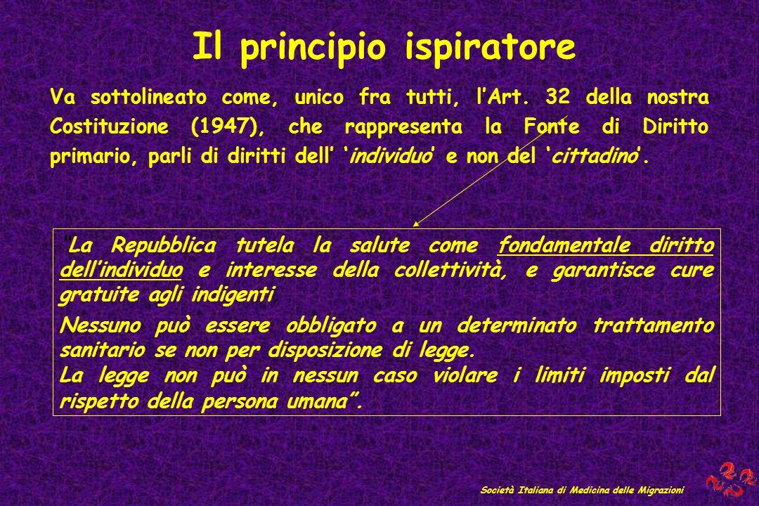 Il principio ispiratore Società Italiana di Medicina delle Migrazioni