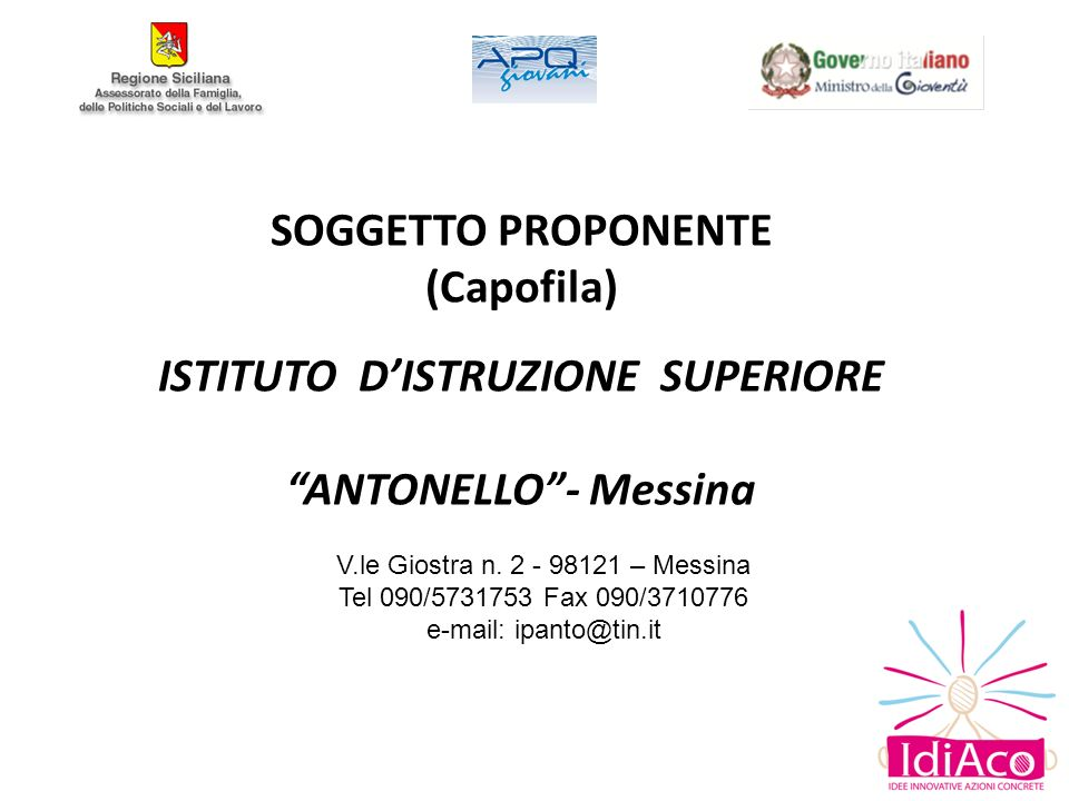 SOGGETTO PROPONENTE ANTONELLO - Messina