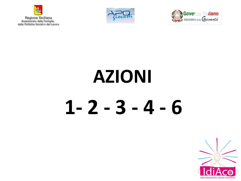 AZIONI 1- 2 - 3 - 4 - 6