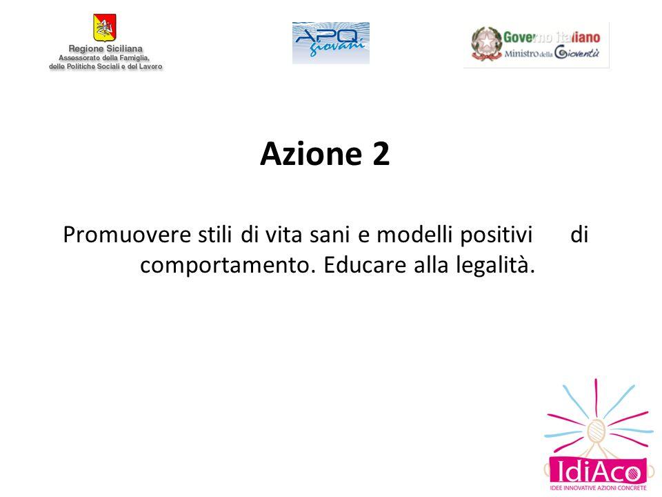 Azione 2 Promuovere stili di vita sani e modelli positivi di comportamento.