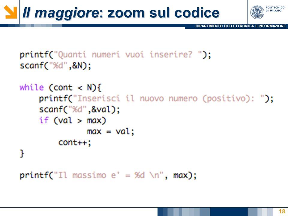 Il maggiore: zoom sul codice