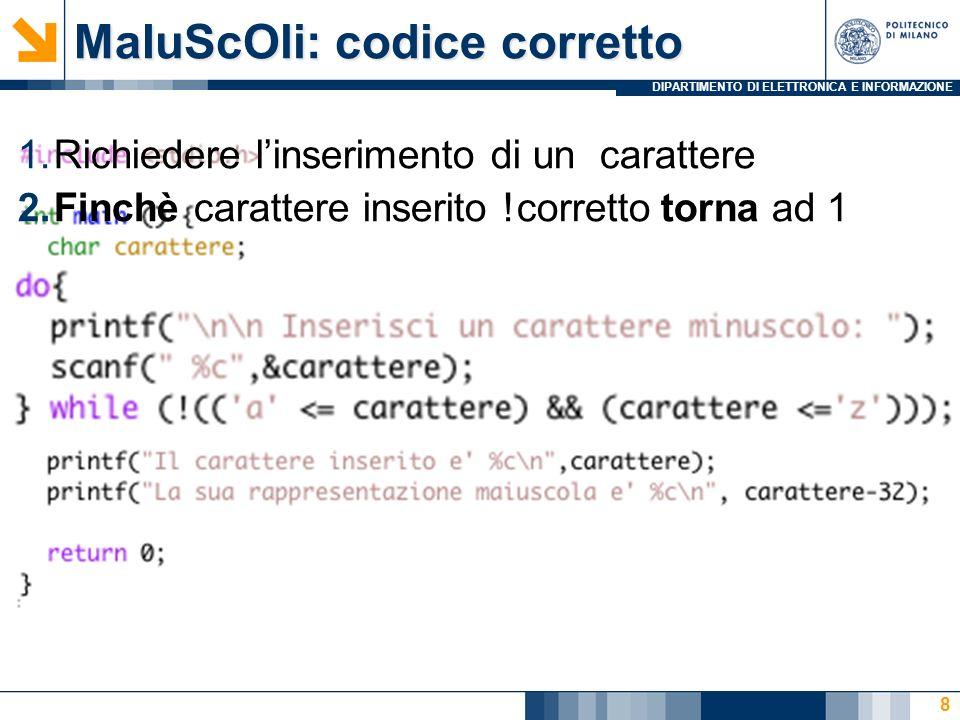 MaIuScOli: codice corretto