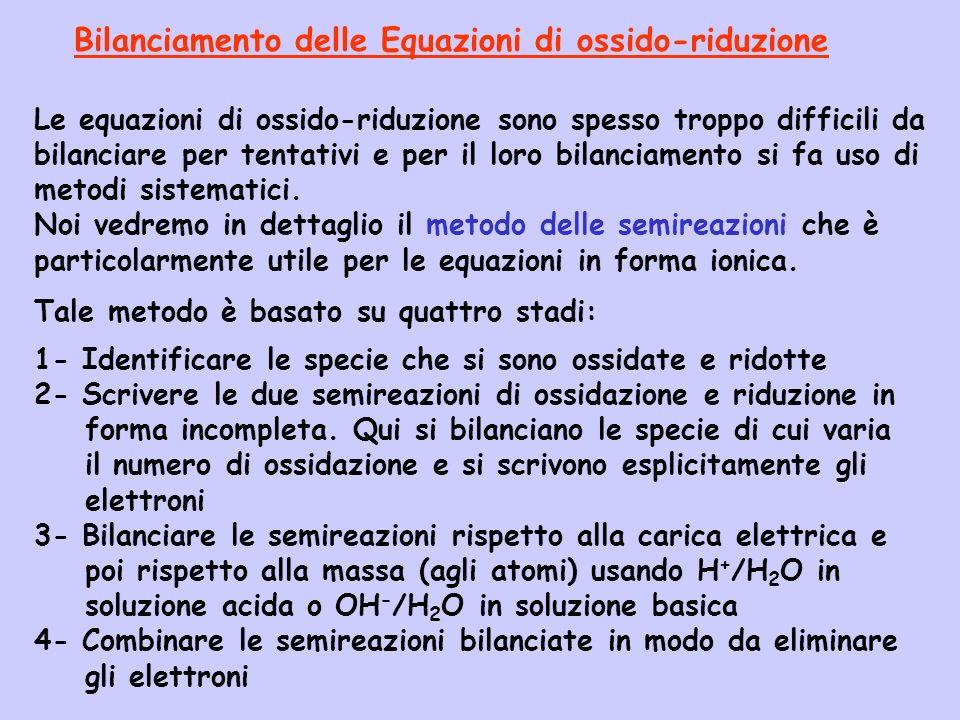 Bilanciamento delle Equazioni di ossido-riduzione