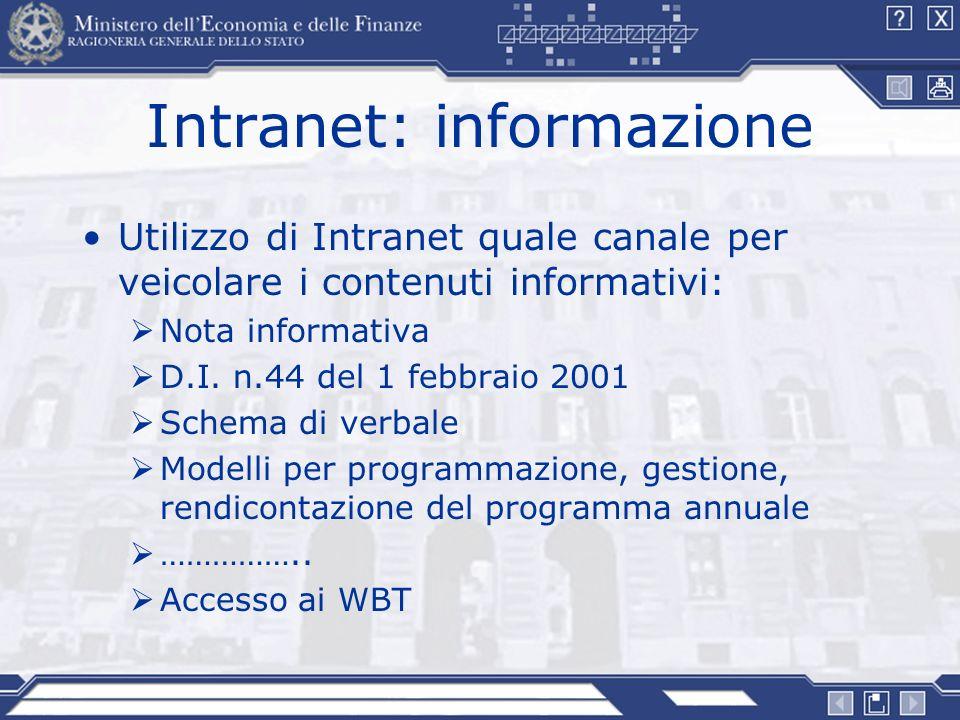 Intranet: informazione