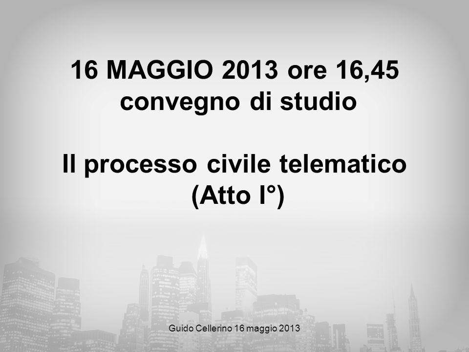 Guido Cellerino 16 maggio 2013