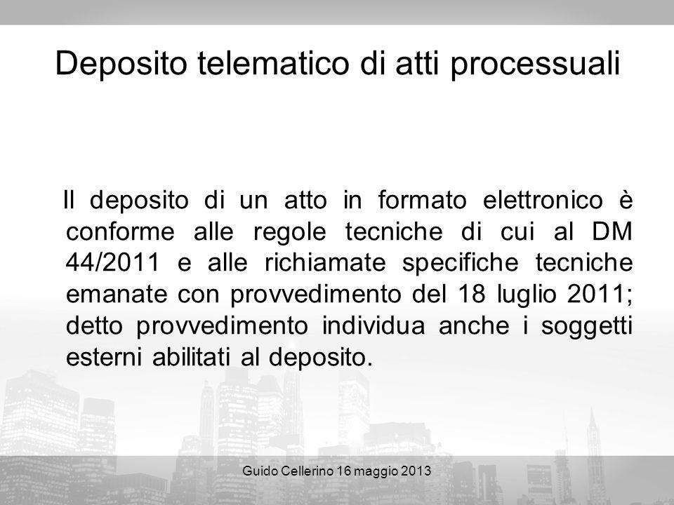 Deposito telematico di atti processuali