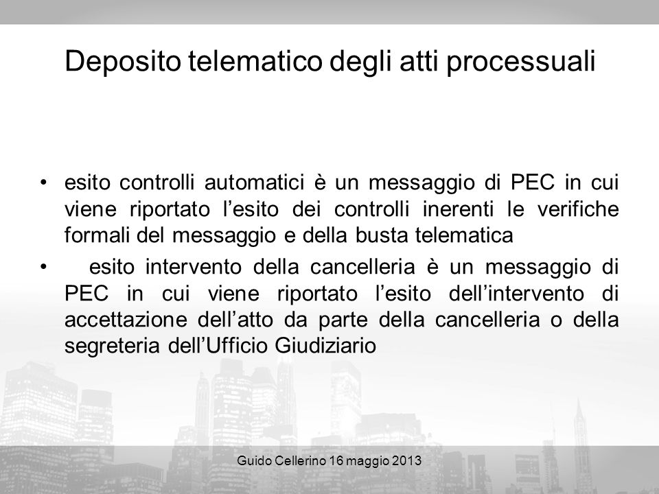 Deposito telematico degli atti processuali