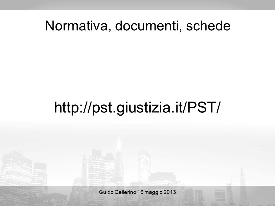 Normativa, documenti, schede