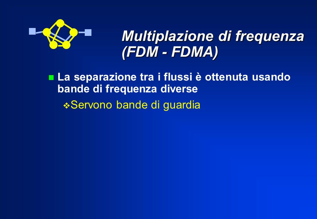 Multiplazione di frequenza (FDM - FDMA)