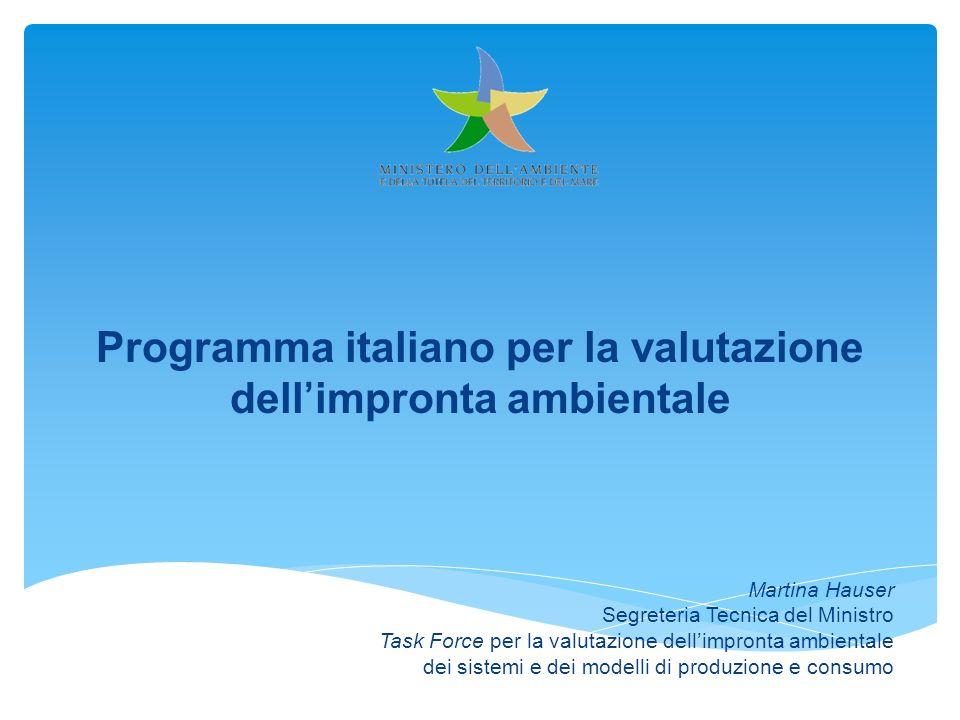 Programma italiano per la valutazione dell'impronta ambientale