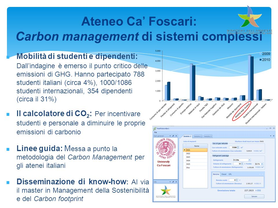 Carbon management di sistemi complessi