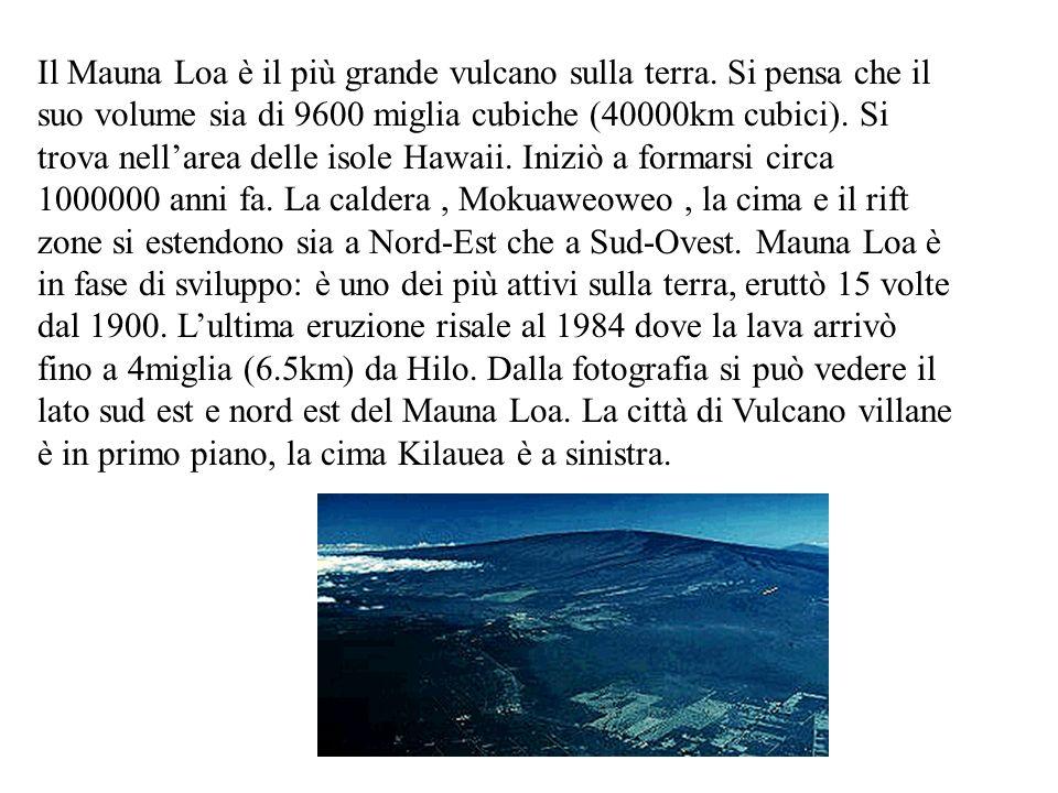 Il Mauna Loa è il più grande vulcano sulla terra