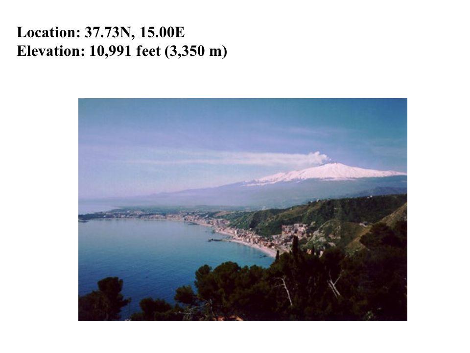 Location: 37.73N, 15.00E Elevation: 10,991 feet (3,350 m)
