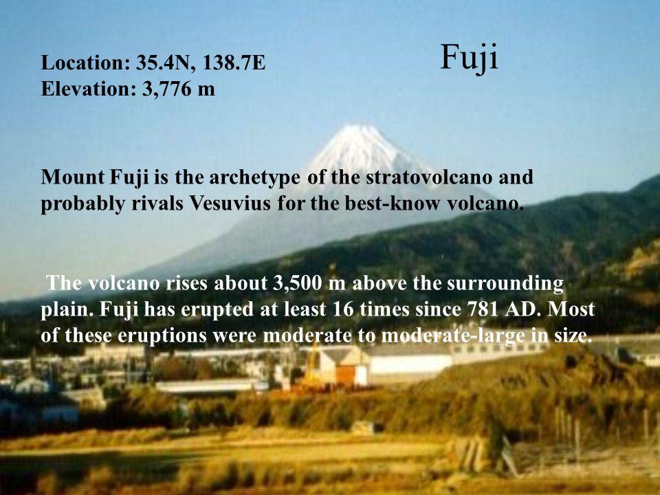 Fuji Location: 35.4N, 138.7E Elevation: 3,776 m