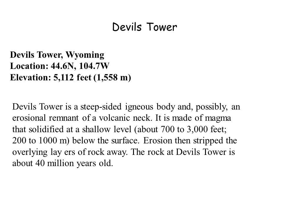 Devils Tower Devils Tower, Wyoming