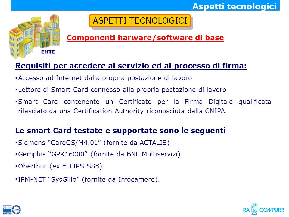Componenti harware/software di base