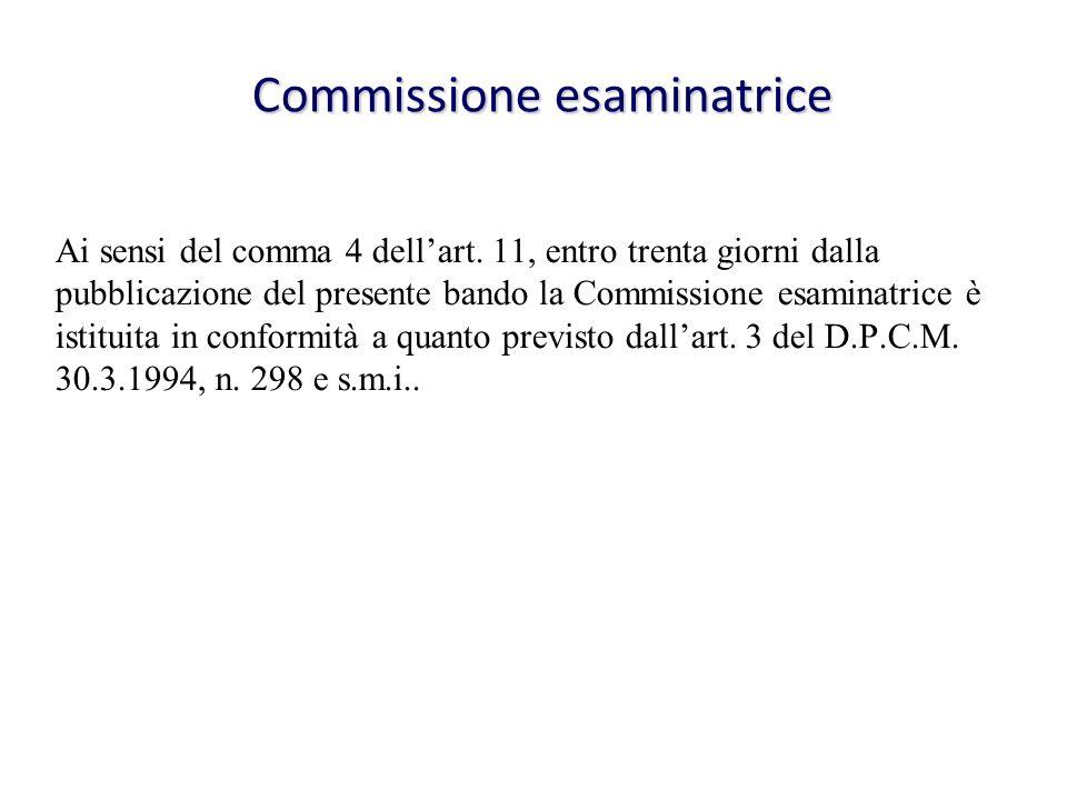 Commissione esaminatrice