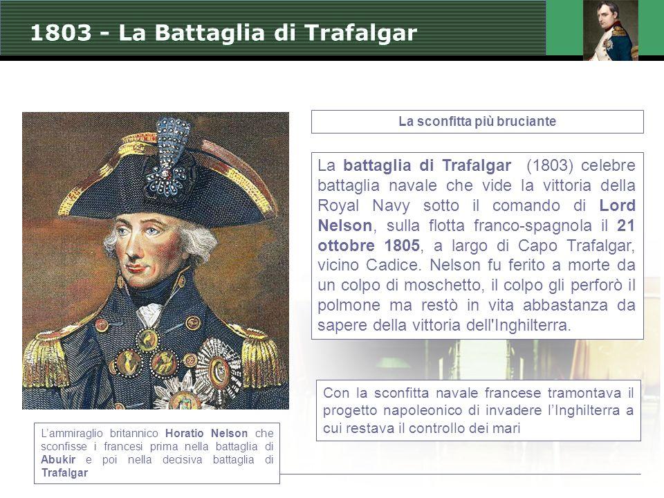 1803 - La Battaglia di Trafalgar