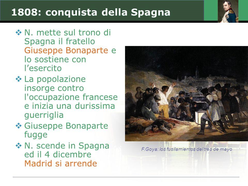 1808: conquista della Spagna
